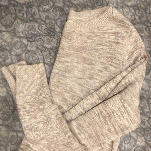 Ann Taylor LOFT gray chunky sweater
